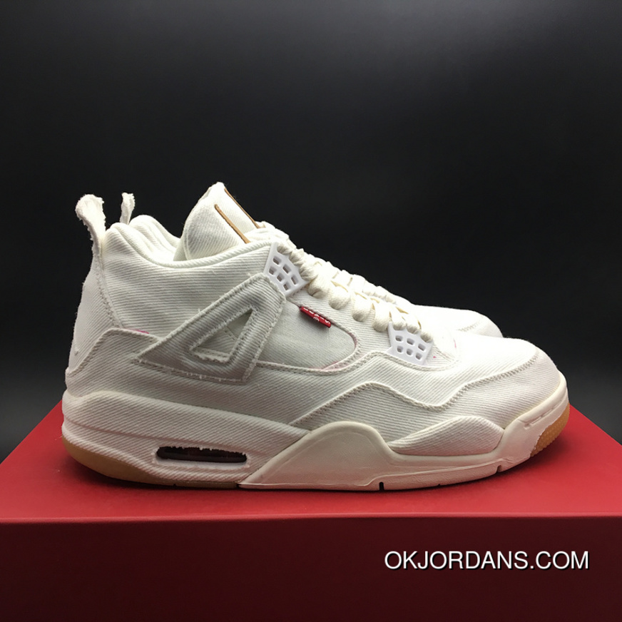 separation shoes 9c3dc ac912 Jordan 4 Reeves Levi S X Air 4 White Cloth Version Tannins SKU AO2571-100  Gs Size36 AQ9103-100-13 6.16 Discount