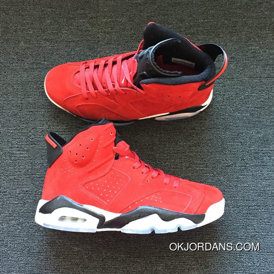 hot sale online b2b1c 52492 AIR JORDAN 6 Generation Red Suede Size Latest