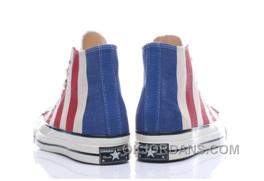 Converse 2017 Chuk Taylor All Star 1970s 1970S 153850C Women/men American Flag Authentic RTsWeAM