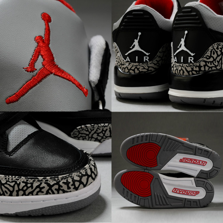 562467d6a99f ... Air Jordan 3 Retro Black Cement Grey ...