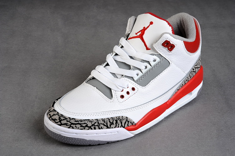 Air Jordan 3 Retro White Fire Red Cement Grey
