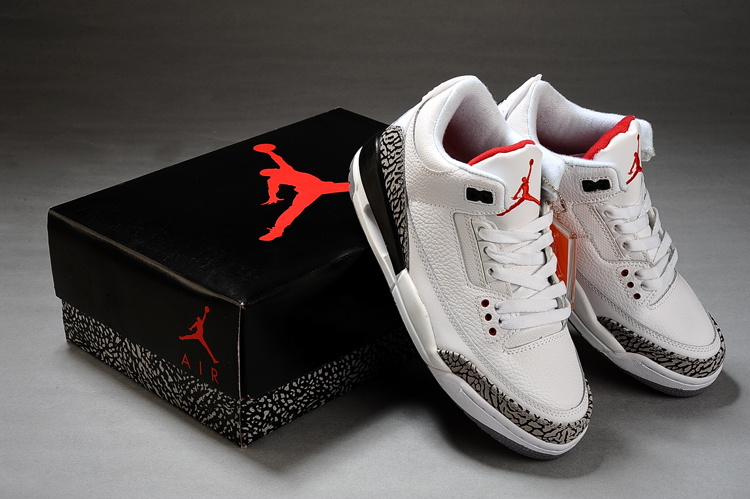 9db80d7acd9 Air Jordan 3 Retro White Cement Grey Fire Red , Price: $73.80 ...