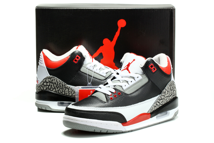 ... Air Jordan 3 Retro Black Varsity Red Cement Grey ... 69601a226c