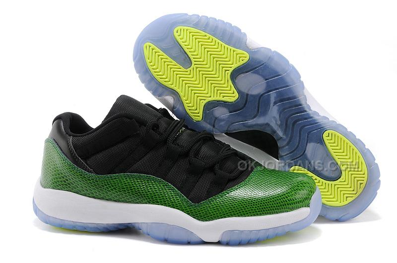 the best attitude 99189 f8a74 ... reduced cheap air jordan 11 retro low green snakeskin black nightshade  white volt ice price 91.00