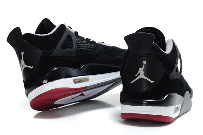reputable site 0bb54 4dd91 Air Jordan 4 Retro Suede Black Grey Red
