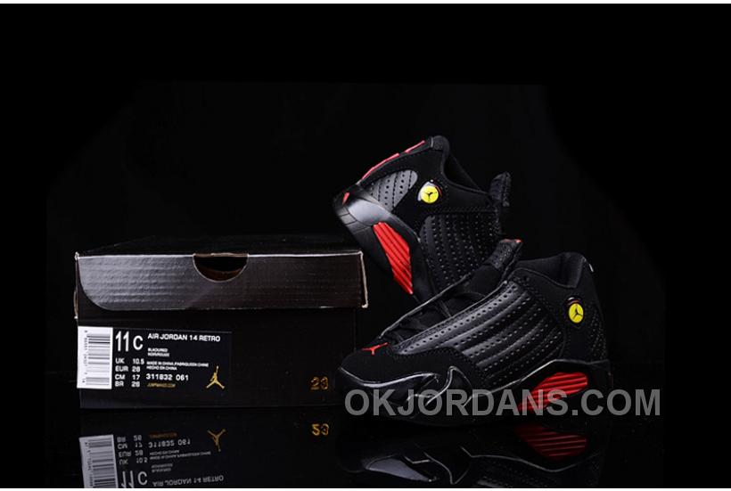 Kids Jordan|Kids Air Jordan 14 Black Red Sale