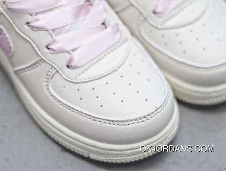 454257c96ef09 Kids Nike Air Force One White Pink Latest