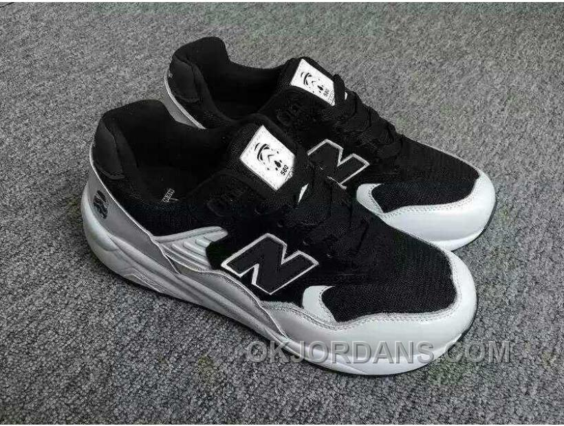 2016 New Balance 580 Men Black White NYeZD