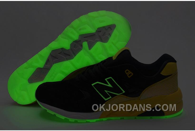 2016 New Balance 580 Men Black Yellow BxAWp