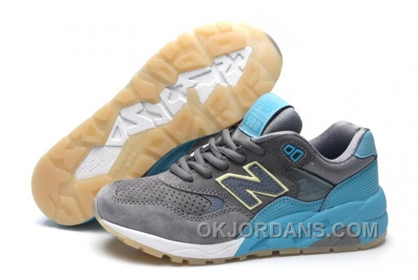 2016 New Balance 580 Men Grey Blue BKdKA
