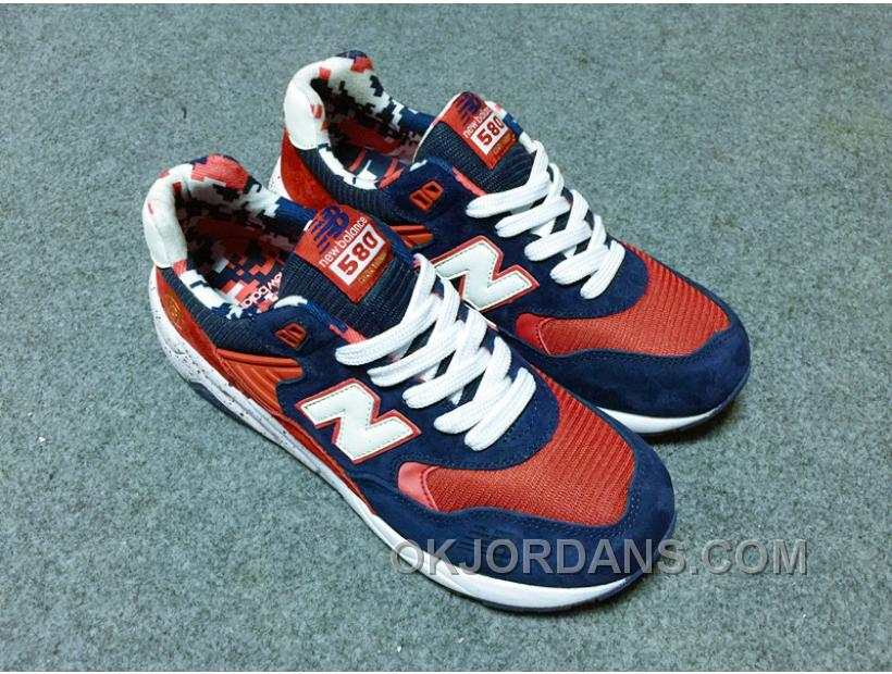 New Balance 580 Men Blue Red RpReE