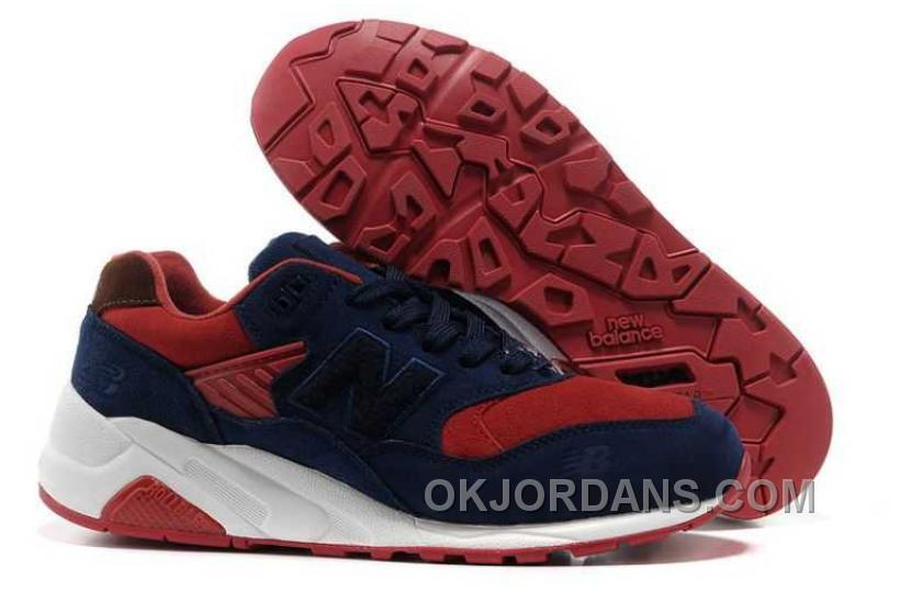 New Balance 580 Suede Mens Navy Red SYSBb