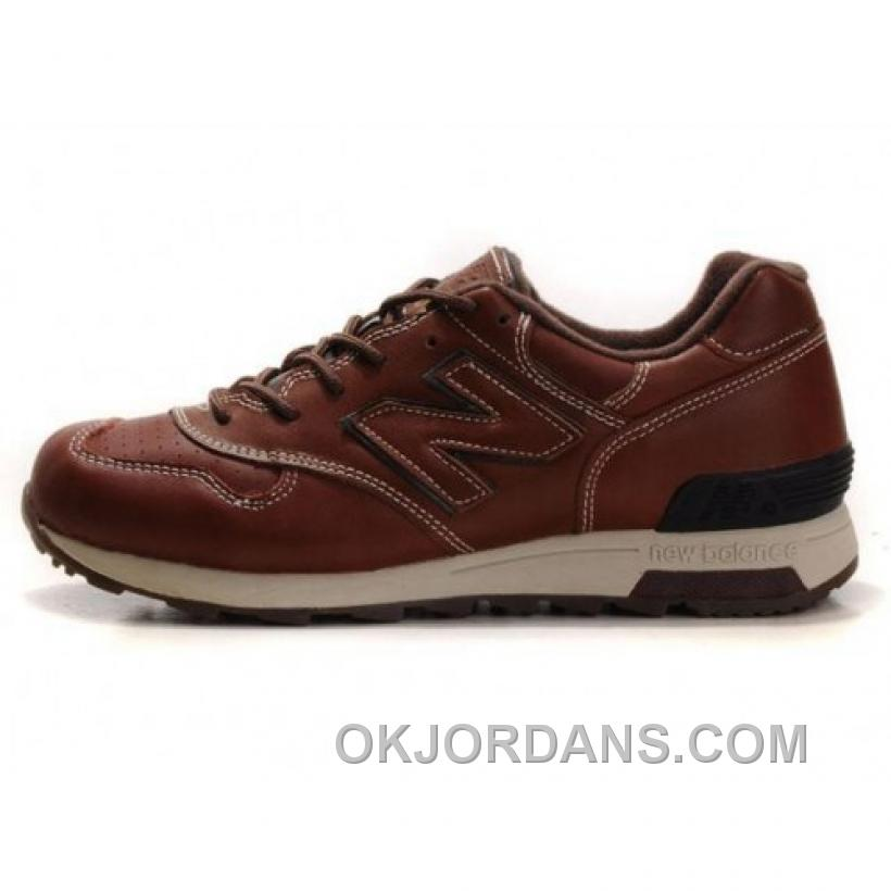 New Balance 1400 Leather Mens Brown Cream Coloured Shoes