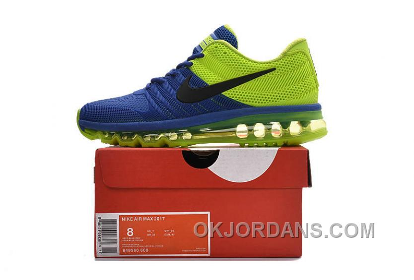 Nike Air Max 2017 KPU Royal Blue Volt Black Authentic QxnSWH