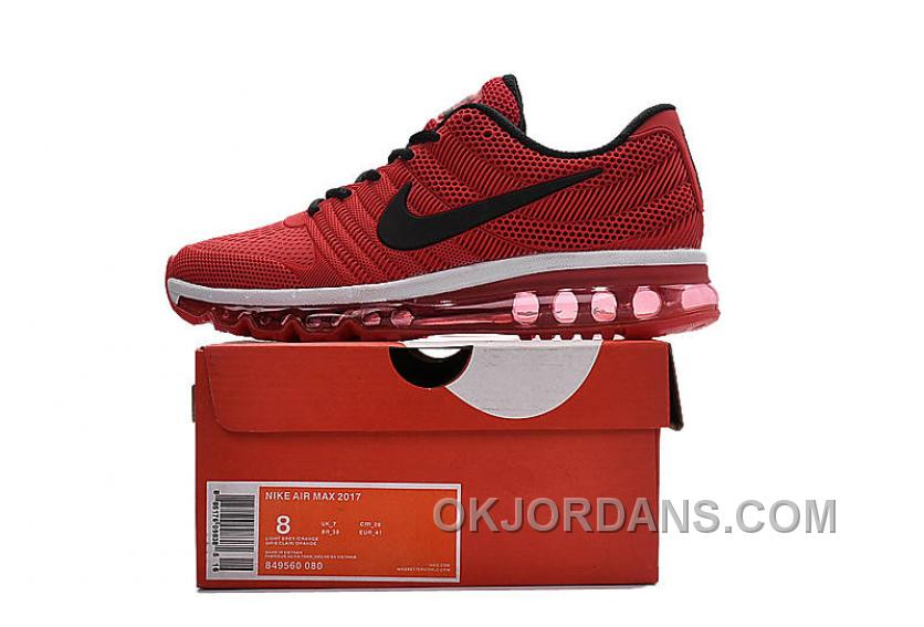 Authentic Nike Air Max 2017 KPU Red Black White Copuon Code MXJhtb