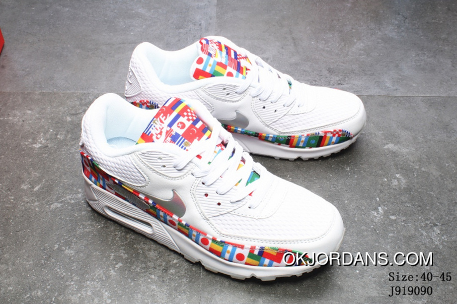 free shipping 4644d 9a146 2018 Summer New Nike AIR MAX 90 NIC QS Running Shoes World Cup National  Flag Collaboration Running Shoes Numbers J919090 Latest