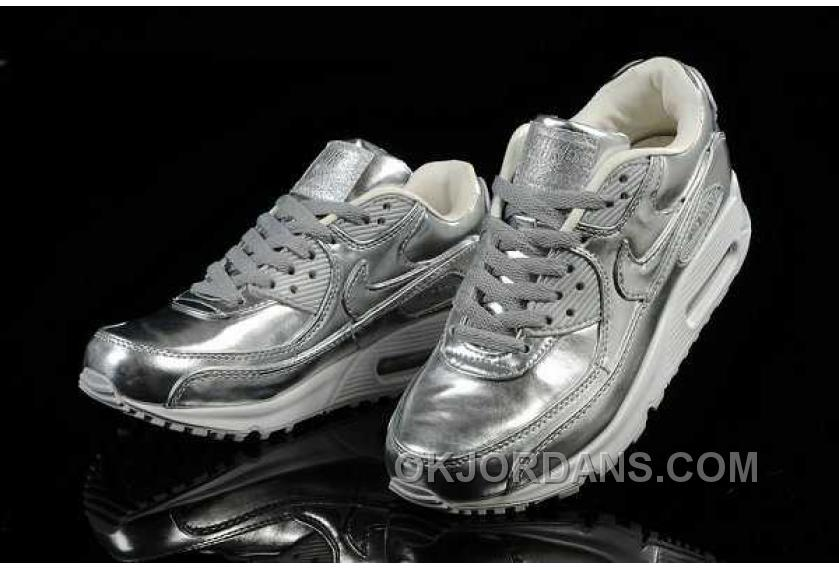 Nike Air Max 90 Womens Silver Color Discount GCypE