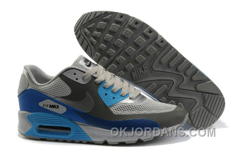 Nike Air Max 90 Hyperfuse Womens Blue Grey For Sale XSQAp