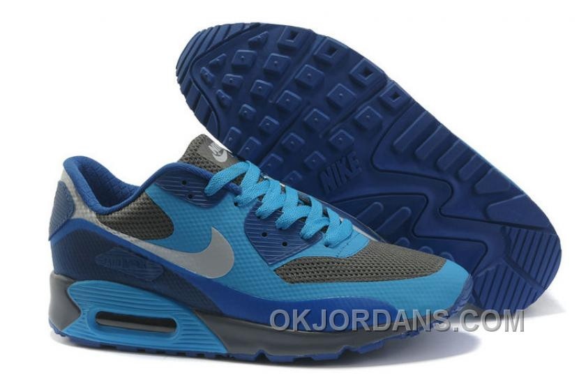 Nike Air Max 90 Hyperfuse Womens Deepblue Grey Discount BxCwi