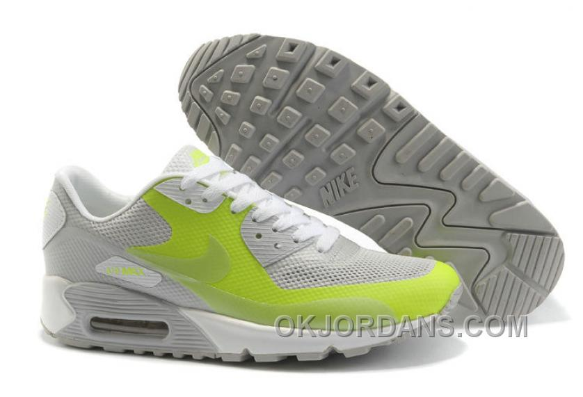 Nike Air Max 90 Hyperfuse Womens Grassgreen Grey Cheap To Buy SKCni