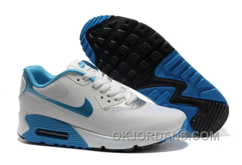 Nike Air Max 90 Hyperfuse Womens White Blue Online MRp84