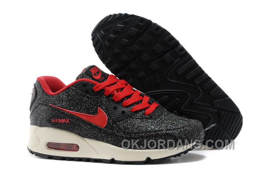 Nike Air Max 90 Spring Flowers Womens Denim Black And Red Trench For Sale Pa5rR