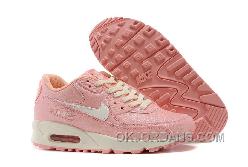 Nike Air Max 90 Spring Flowers Womens Denim Pink Sequins Authentic FBKXP