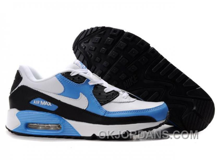 Nike Air Max 90 Womens Blue Black White Lastest EpxB3