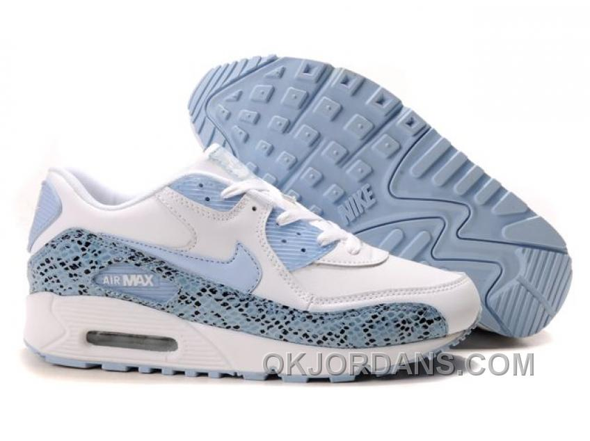 Nike Air Max 90 Womens Lightblue White Cheap To Buy 6MBrH