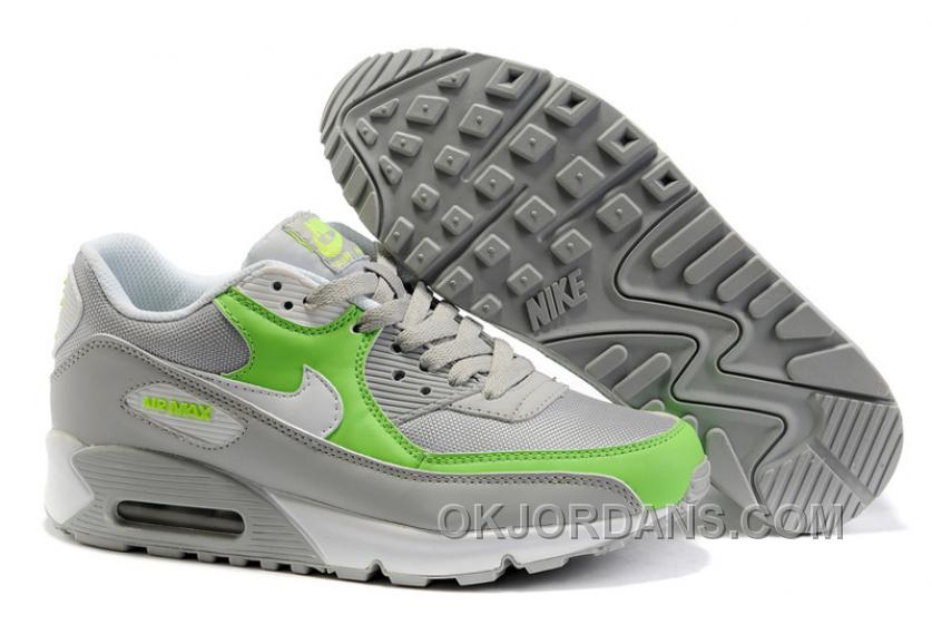 Nike Air Max 90 Womens Green White Grey Super Deals XtFh5