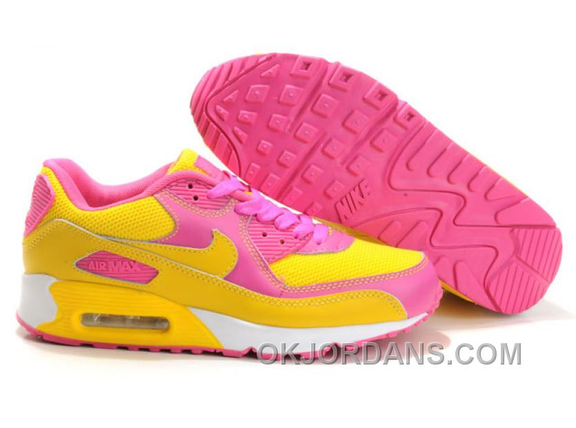 Nike Air Max 90 Womens Yellow Pink White Low For Sale Y7asm