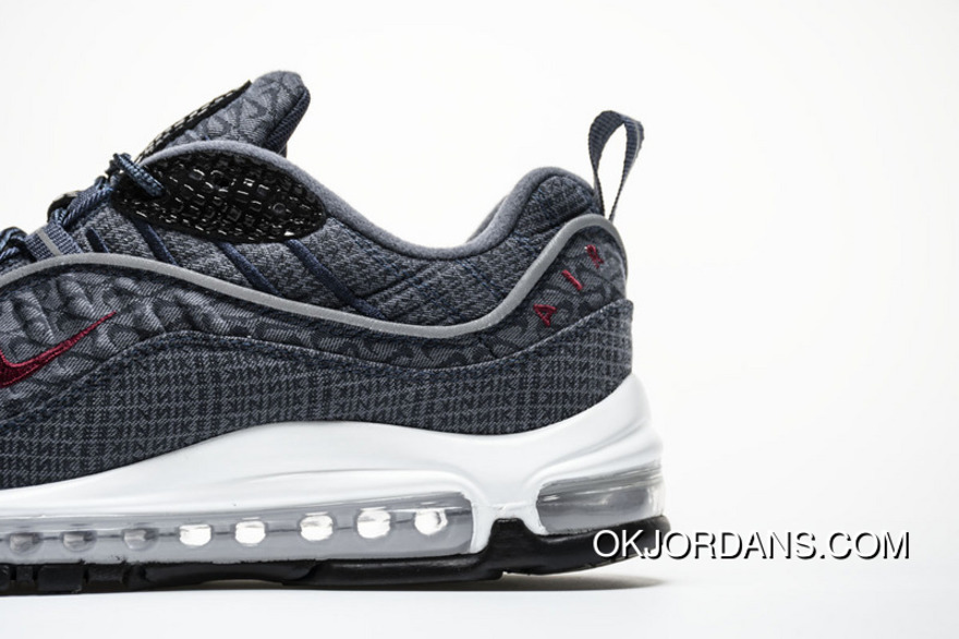 official photos 04c18 68a2a Grey Red Nike 98 Zoom 924462 400 Air Max 98 QS Thunder Blue New Style
