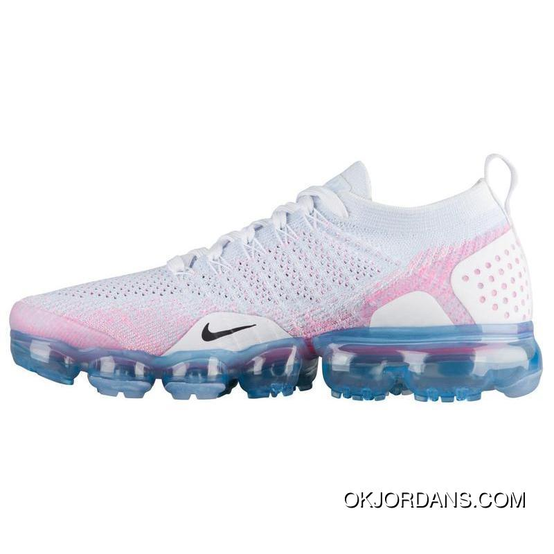 768b27a79e0 NIKE AIR VAPORMAX FLYKNIT 2 SKU 942842 102 White Pink Black Hook Latest ...