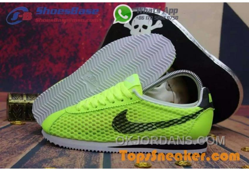 Hot Sell Popular Womens Nike Cortez Mesh Yellow Black Jogging Shoes Fashionable New Release JaBAfP4