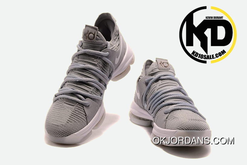 0a8f2046768 Nike Kd 10 Cool Grey Mens Basketball Shoes Outlet, Price: $87.19 ...