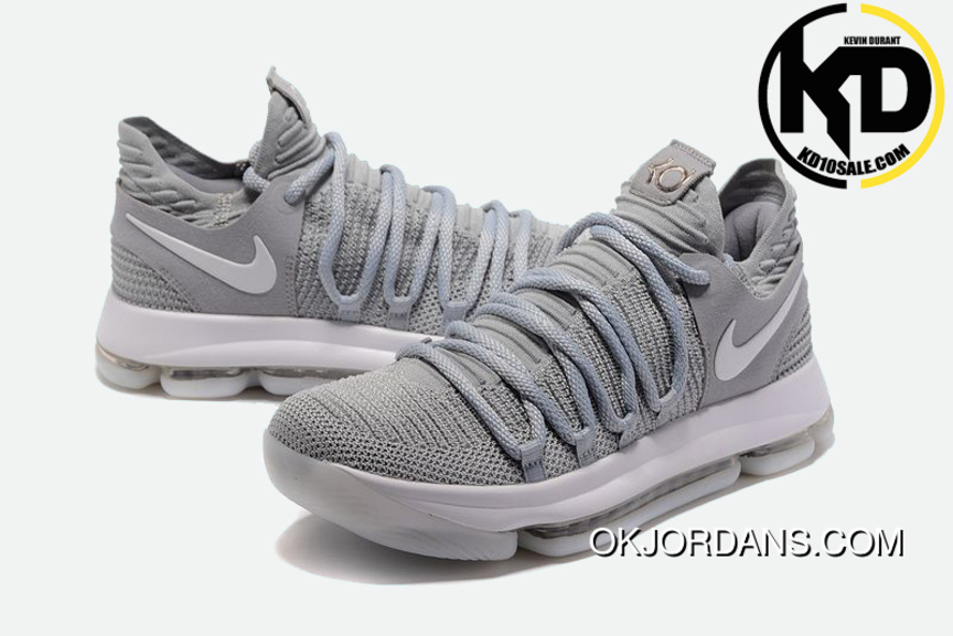 02fa4f6e2908 Nike Kd 10 Cool Grey Mens Basketball Shoes Outlet