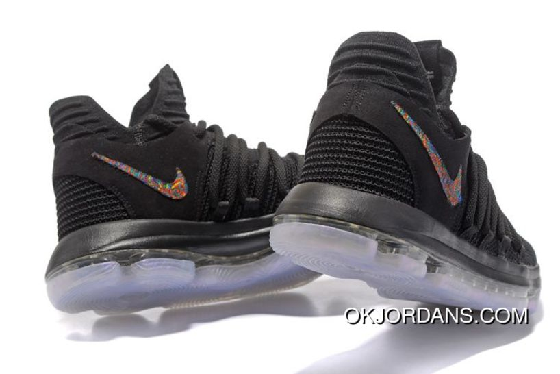 364c46f4249a ... discount nike kd 10 blackout all black mens basketball shoes new style  5a541 461ea