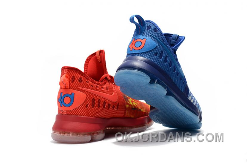 "NIKE ZOOM KD 9 EP Nike KD 9 ""Fire & Ice"" Authentic"