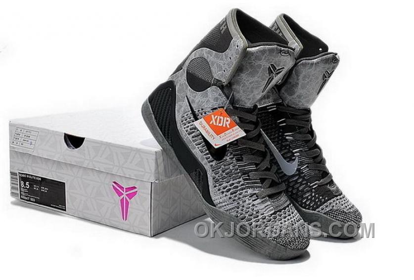 Buy Cheap Nike Kobe 9 2014 High Top Grey Black Mens Shoes New Release 6t3tt