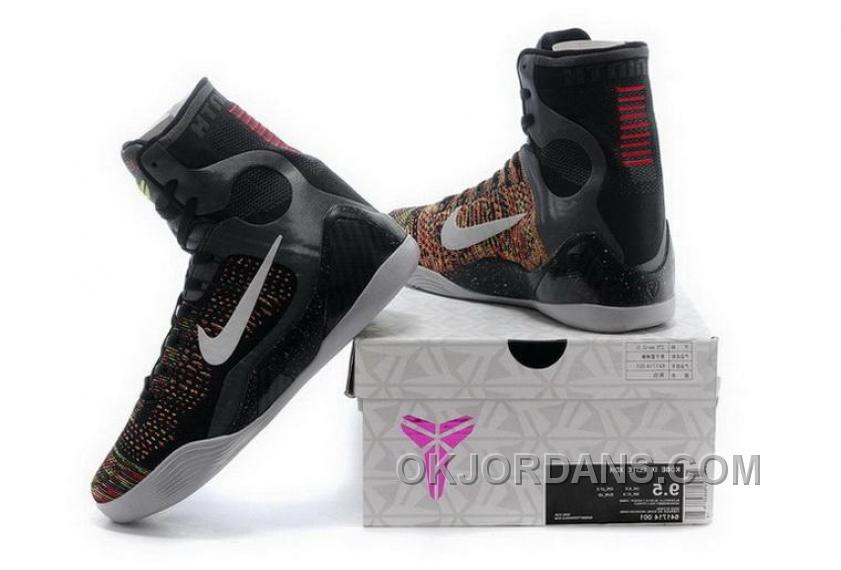 Buy Cheap Nike Kobe 9 High 2015 Black White Mens Shoes Super Deals Z7kQt