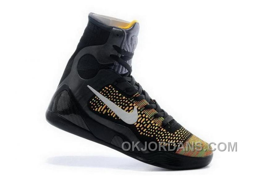 Buy Cheap Nike Kobe 9 High 2015 Black Yellow Mens Shoes For Sale 3Y2ftz