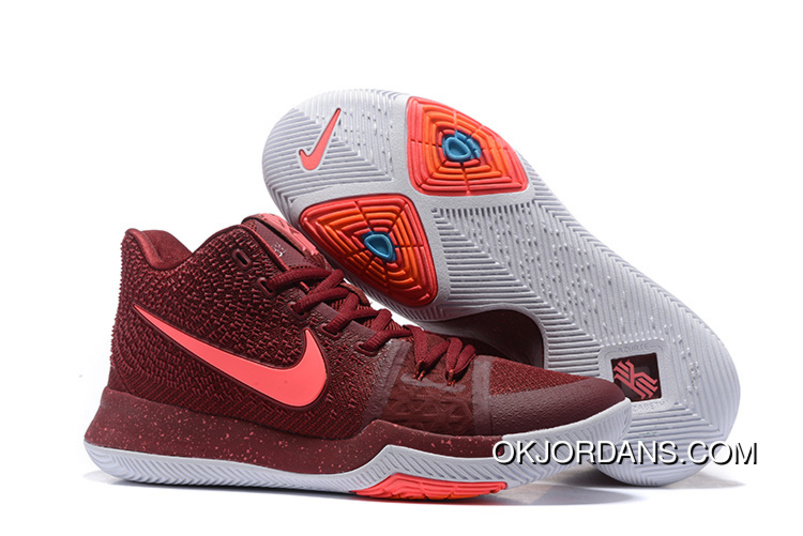 62d6bd55e41f Nike Kyrie 3 Team Red Hot Punch-White Outlet