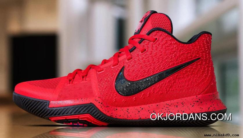 new style d53d8 87f8c Nike Kyrie 3 University Red Black-Team Red Latest