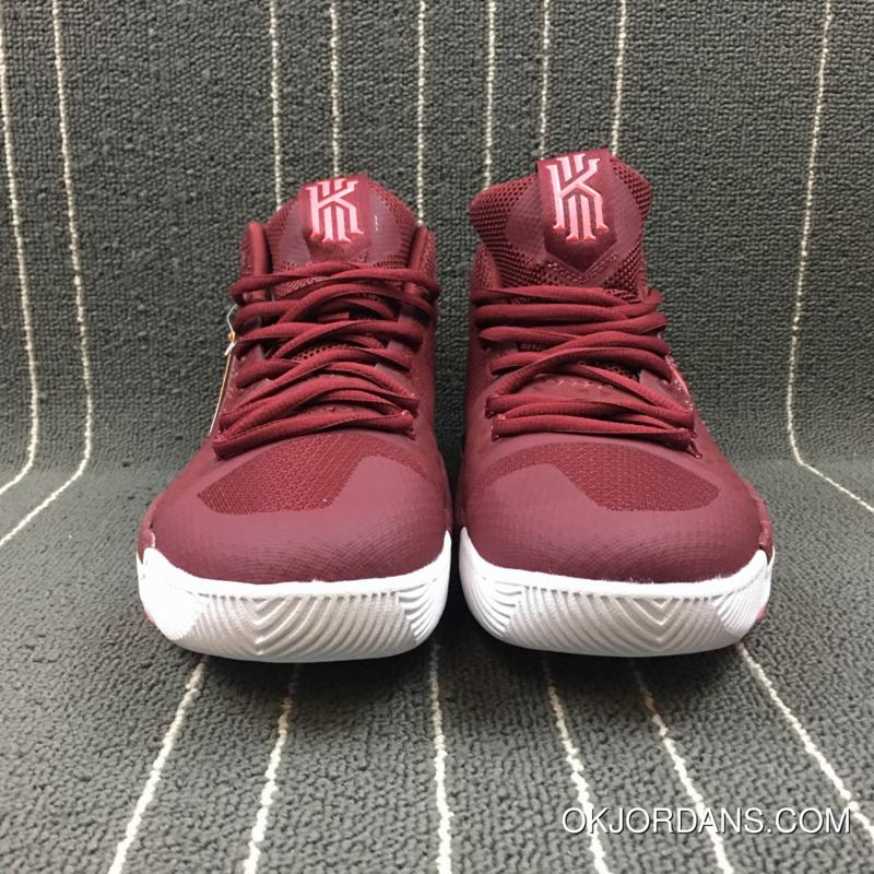 5e811b0d7cf7 Nike Kyrie 3 Team Red Hot Punch-White New Release