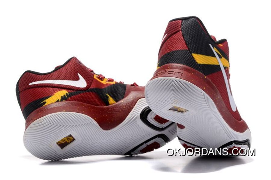 6582d522a551 Nike Kyrie 3 Burgundy-Team Red White-Yellow-Black Top Deals