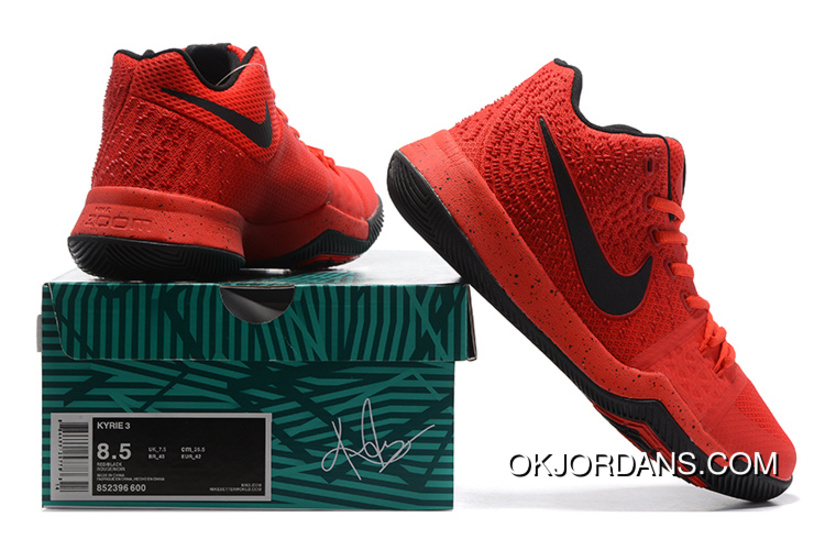 0030374fcbd5 2017 Nike Kyrie 3 University Red Black-Team Red Released New Style ...