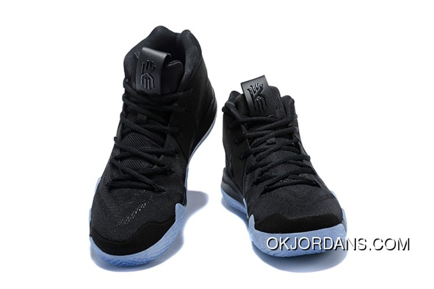 d7501a57586a New Nike Kyrie 4 Black Suede Basketball Shoes Best