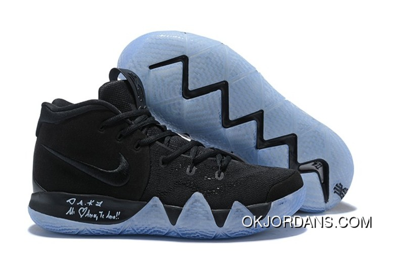 470354399fb3 New Nike Kyrie 4 Black Suede Basketball Shoes Best