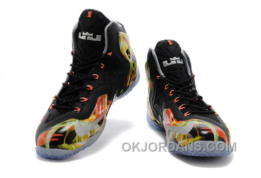 "Nike LeBron 11 ""Everglades"" Black/Metallic Silver-Wolf Grey-Atomic Mint For Sale Free Shipping CcRmFfs"