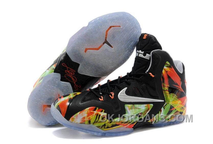 "Nike LeBron 11 ""Everglades"" Black/Metallic Silver-Wolf Grey-Atomic Mint For Sale Christmas Deals 5pkC4e"